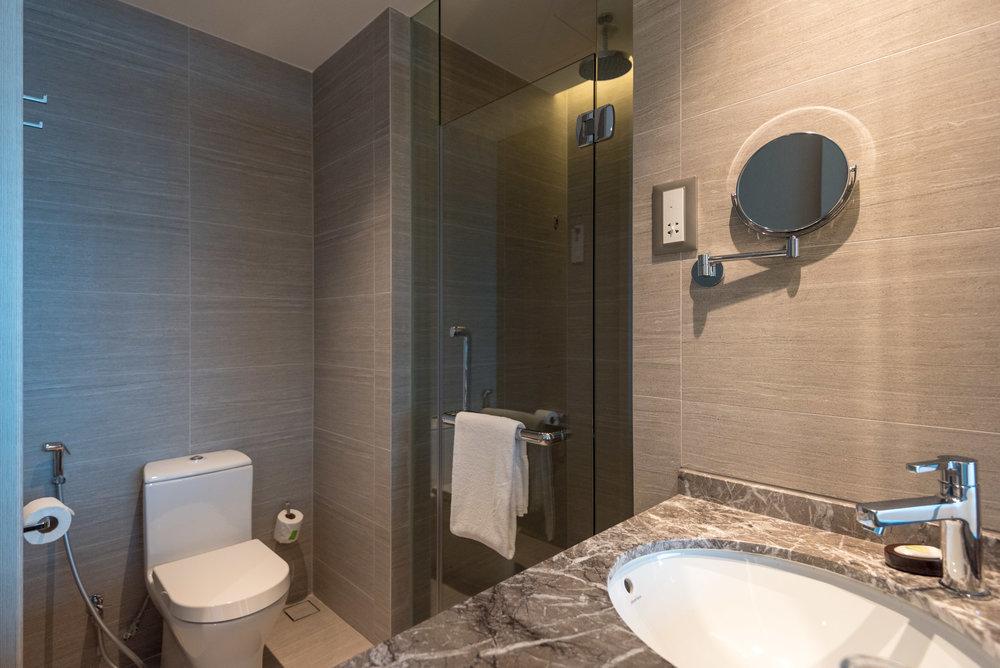 Bathroom  Premier Skyline Room -Courtyard by Marriott Singapore Novena