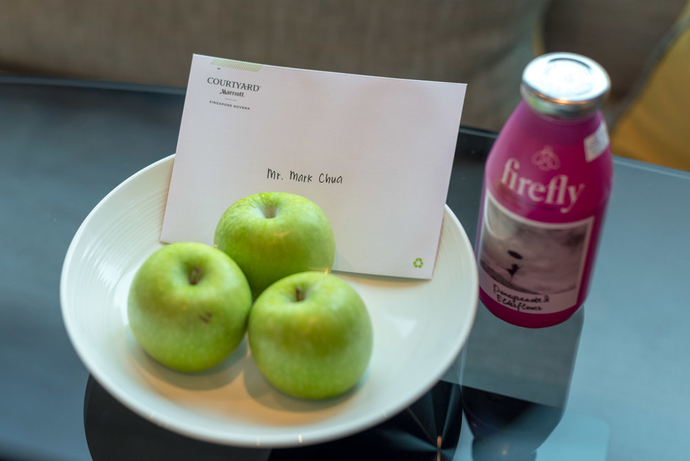 Welcome Amenities  Premier Skyline Room - Courtyard by Marriott Singapore Novena