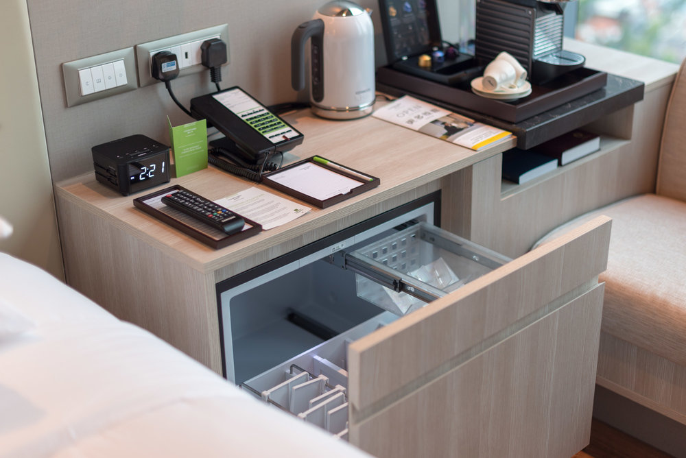 Mini Refrigerator (Empty)  Premier Skyline Room -Courtyard by Marriott Singapore Novena
