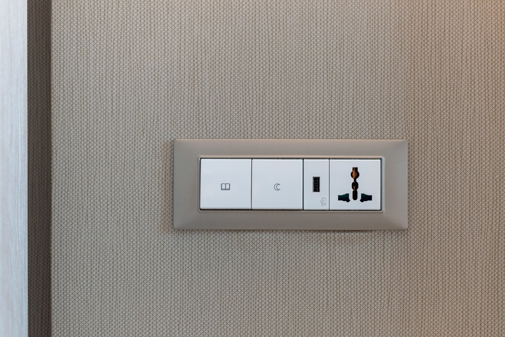 USB Charging Port and Power Outlet  Premier Skyline Room - Courtyard by Marriott Singapore Novena