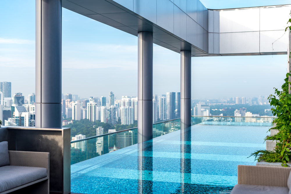 Infinity Pool  Courtyard by Marriott Singapore Novena