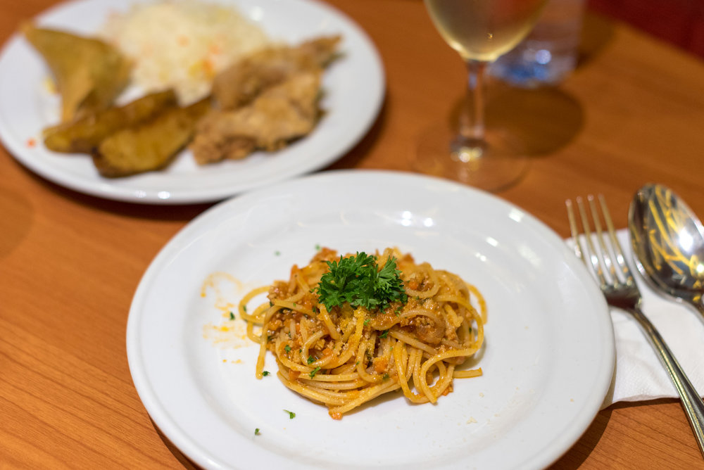 Spaghetti Bolognese  Premier Lounge - Ngurah Rai International Airport (DPS)