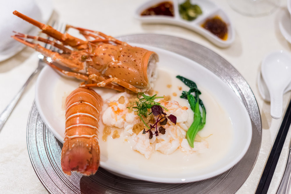 Steamed Lobster, Chinese Wine, Egg White  Man Fu Yuan - InterContinental Singapore