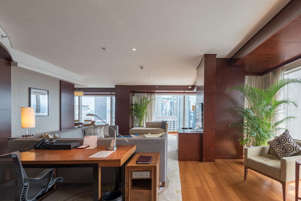 Living Room  Grand Executive Suite - Grand Hyatt Kuala Lumpur