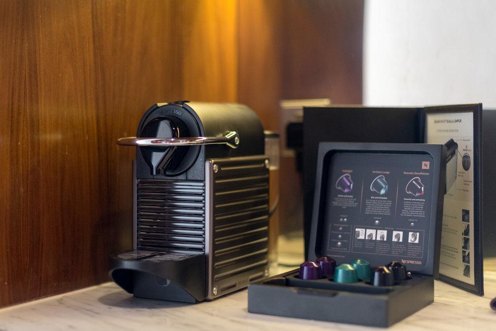 Nespresso Coffee Machine  Grand Executive Suite - Grand Hyatt Kuala Lumpur