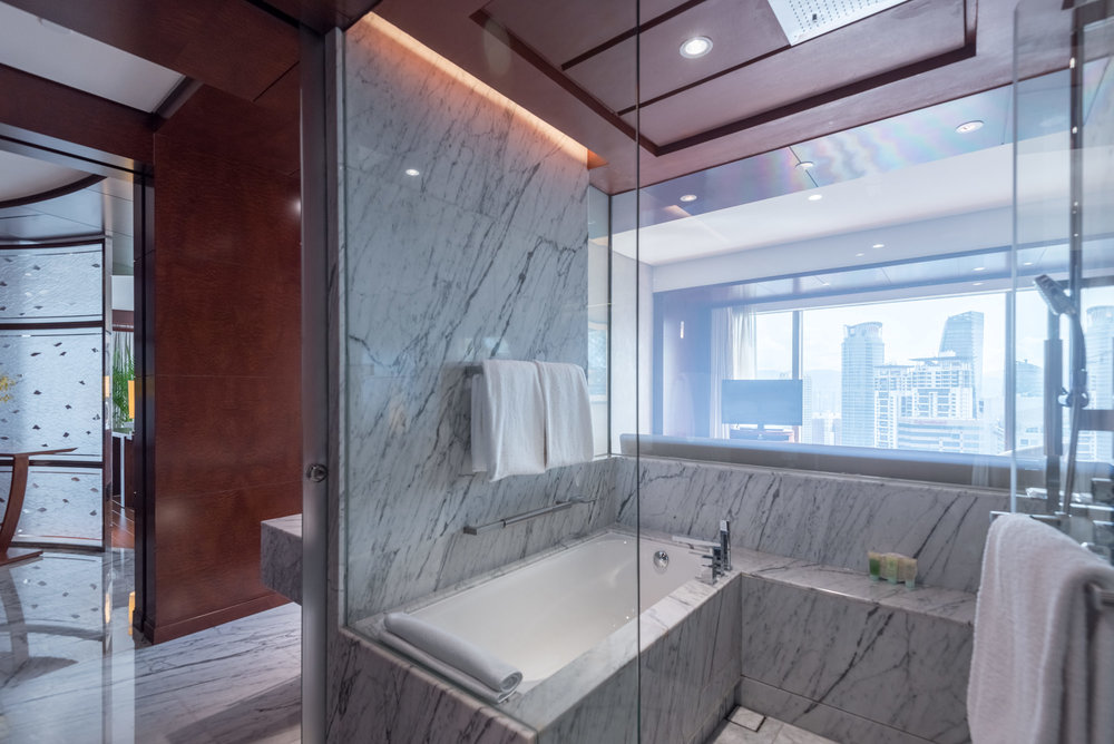 Shower and Bathtub   Grand Executive Suite - Grand Hyatt Kuala Lumpur