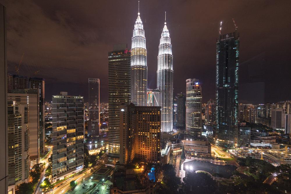 Night View from the Suite   Grand Executive Suite - Grand Hyatt Kuala Lumpur