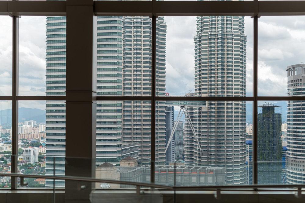 View of Petronas Twin Towers  Lobby - Grand Hyatt Kuala Lumpur