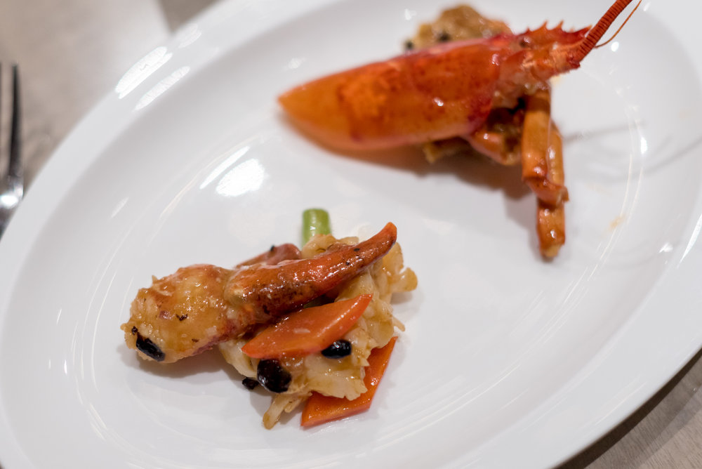 Wok-fried Boston Lobster in Black Bean Sauce  Jiang-Nan Chun - Four Seasons Hotel Singapore