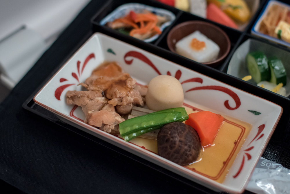 Dainomono - Breakfast Service  Japan Airlines Business Class JL36 777-200ER - SIN to HND