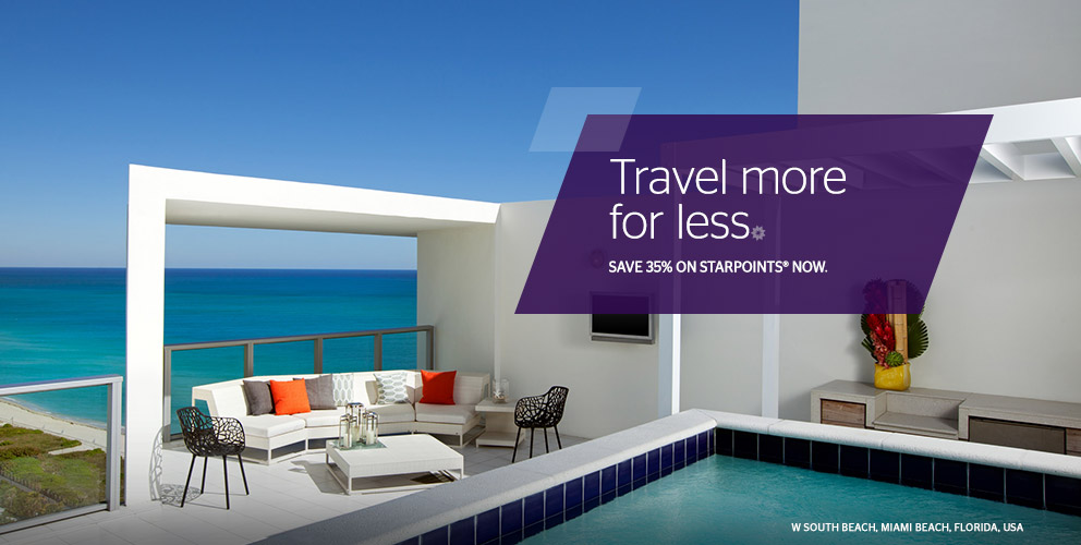 Buy Starpoints at 35% off - Convert 20,000 Starpoints into 25,000 Miles!