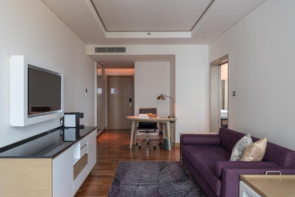 Living Room and Work Desk  One Bedroom Suite - Amari Johor Bahru
