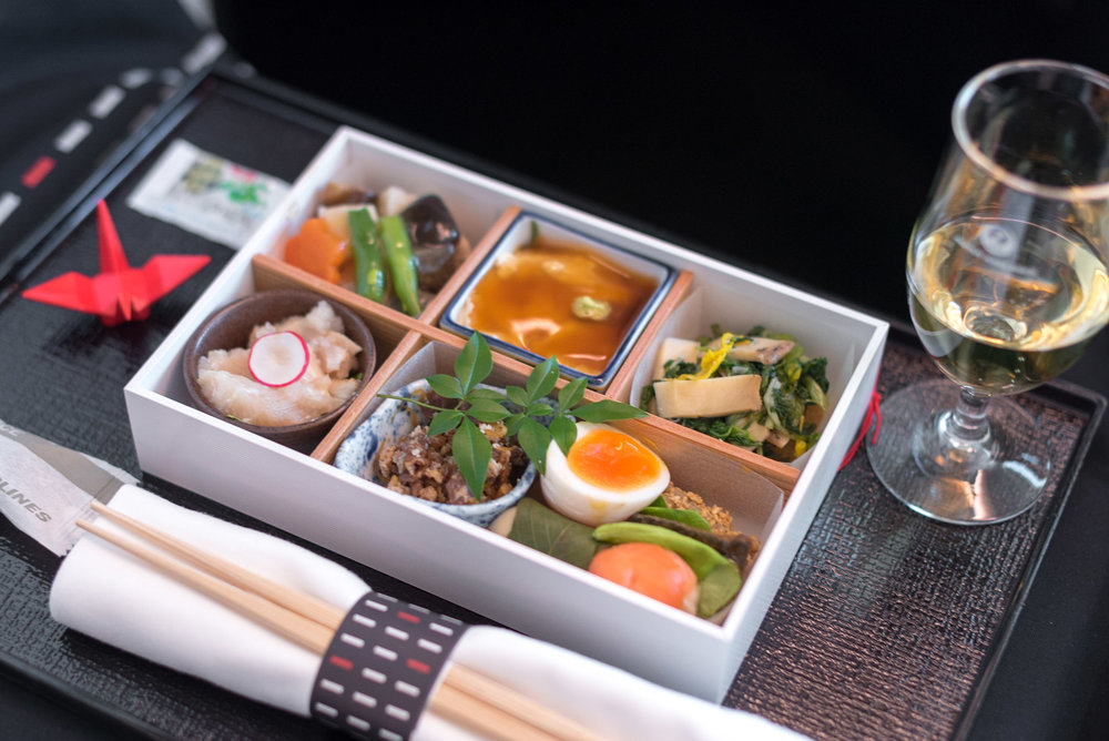 Box of Appetisers   Japan Airlines Business Class JL31 777-200ER - HND to BKK