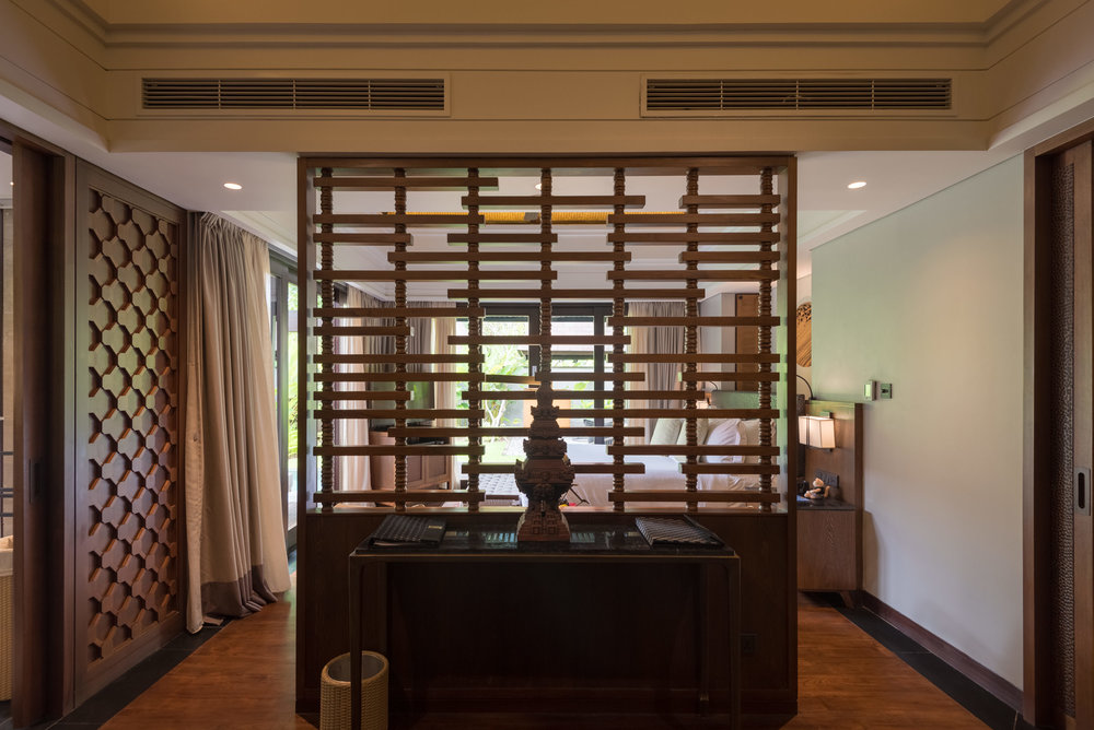 Semi-Private Partition  Pool Villa - Conrad Bali