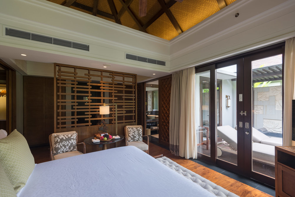 Bedroom and Bathroom  Pool Villa - Conrad Bali