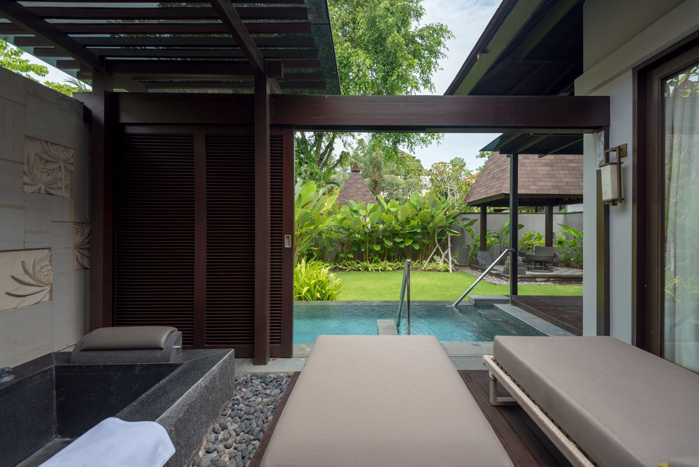 Sun Terrace and Private Pool  Pool Villa - Conrad Bali