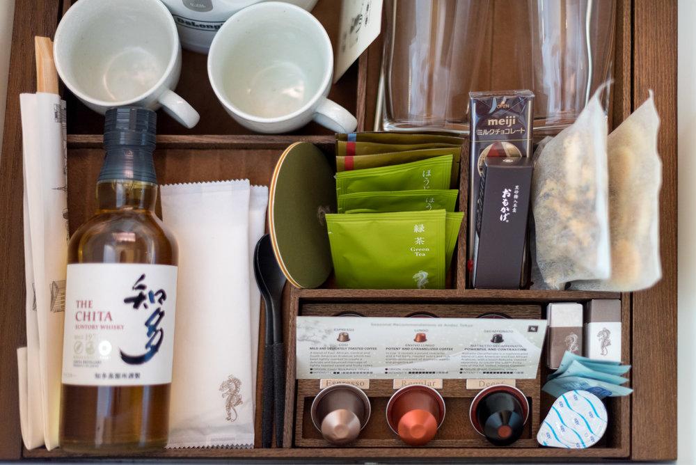 Complimentary Minibar (Excluding Alcohol)  Andaz King Room - Andaz Tokyo Toranomon Hills