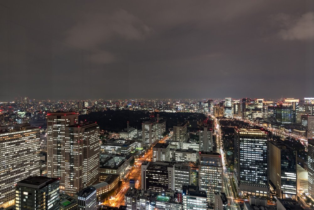 Night View from the Bar  Rooftop Bar - Andaz Tokyo Toranomon Hills