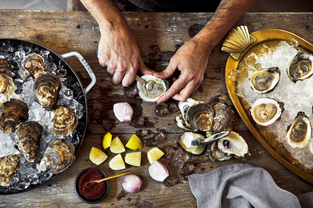 Oyster Shucking | Photo Credit: Fairmont Austin