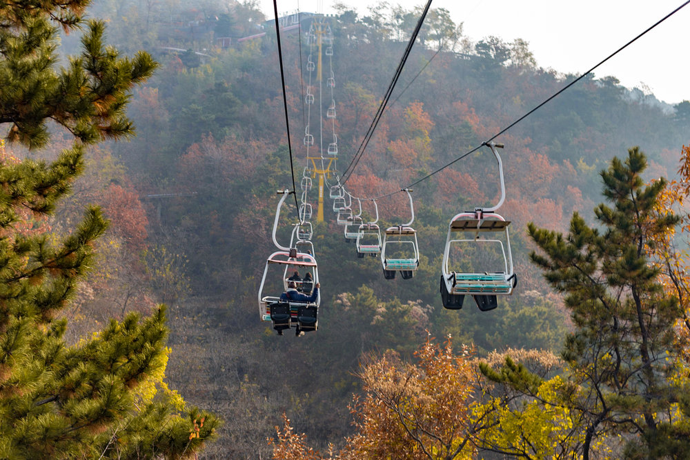 Cable Car up to Great Wall of China (Mutianyu)