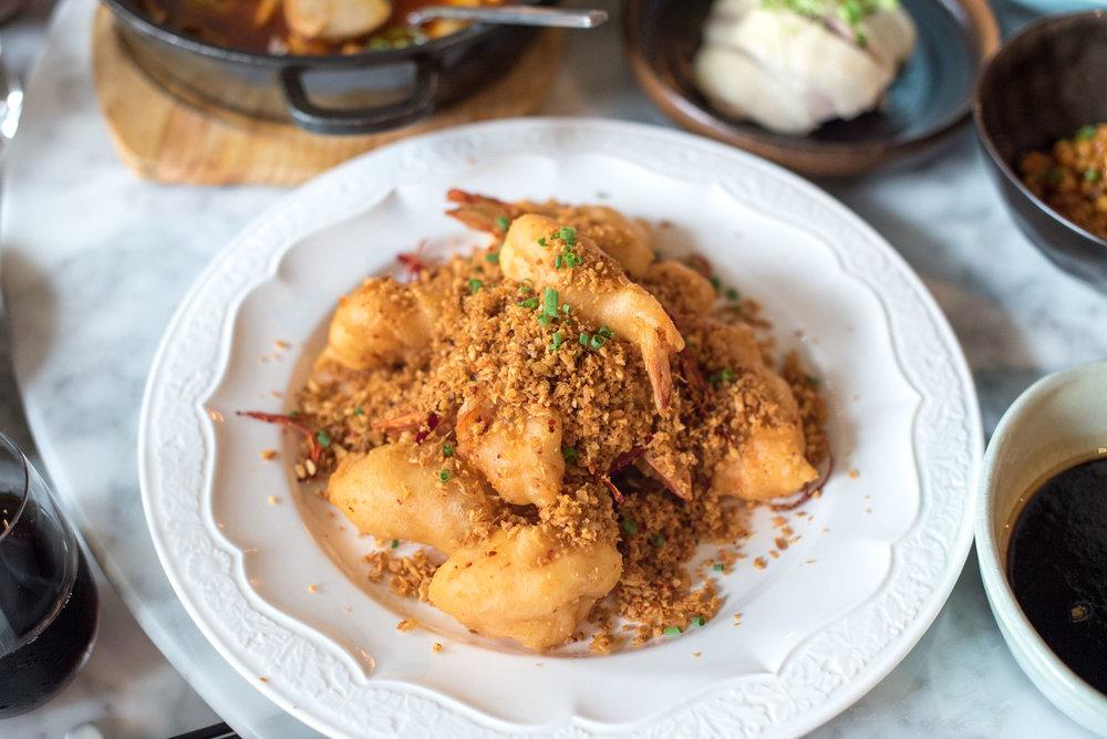 Garlic Prawns (金蒜辣椒大虾)