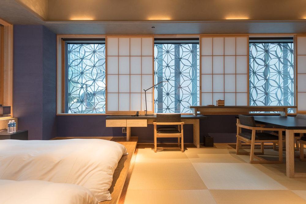 Shoji Screens and Edo Komon  Kiku - HOSHINOYA Tokyo