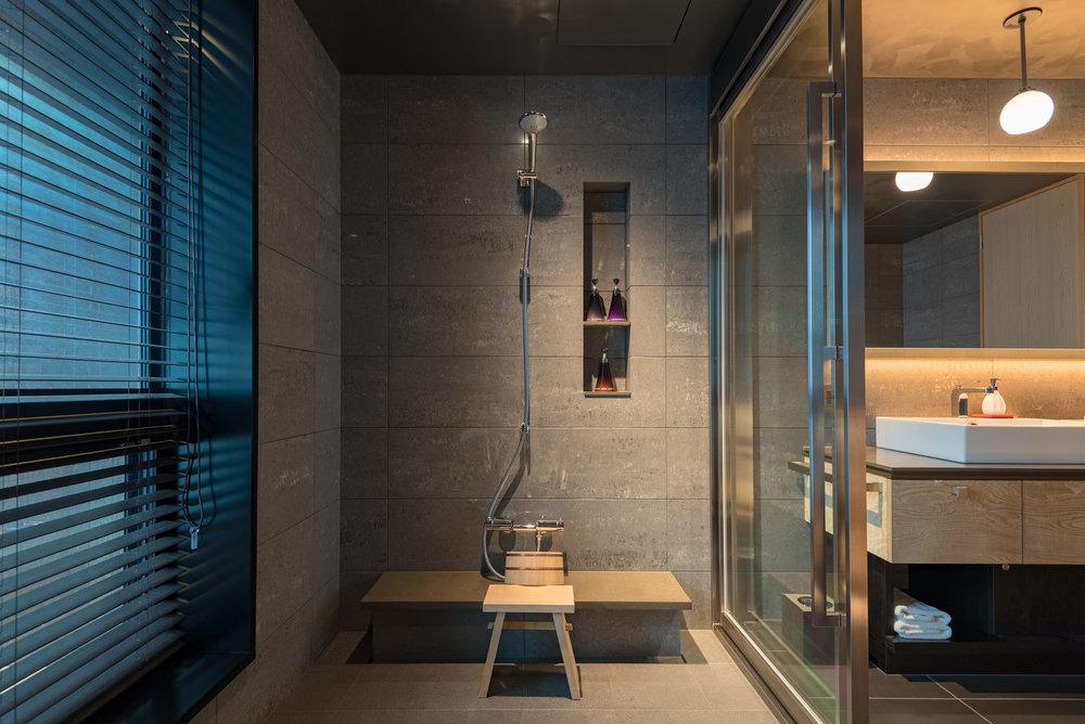 Separate Shower Area  Kiku - HOSHINOYA Tokyo