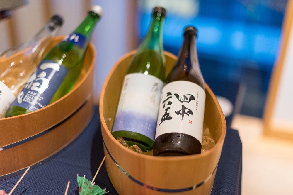 Selection of Sake  SAKE Lounge - HOSHINOYA Tokyo