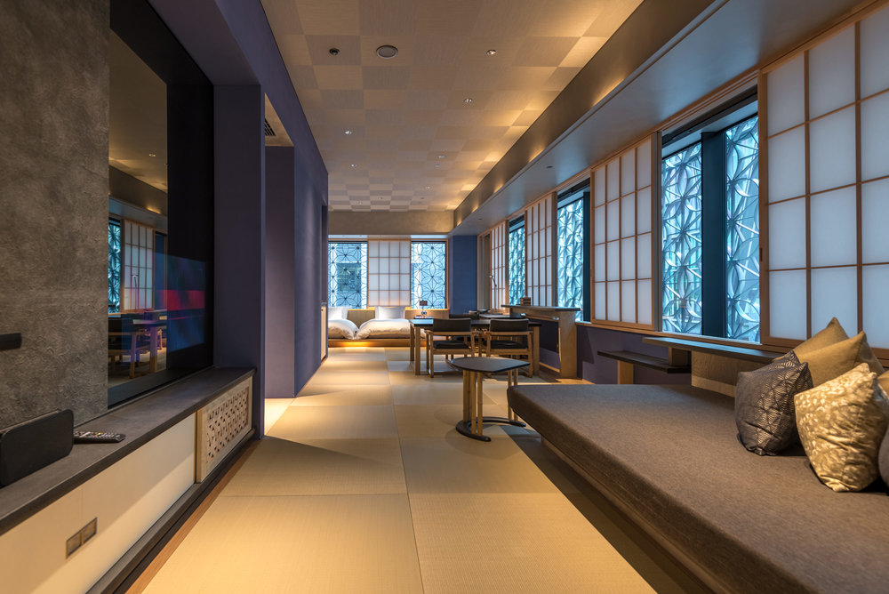Living Area and Bedroom  Kiku - HOSHINOYA Tokyo