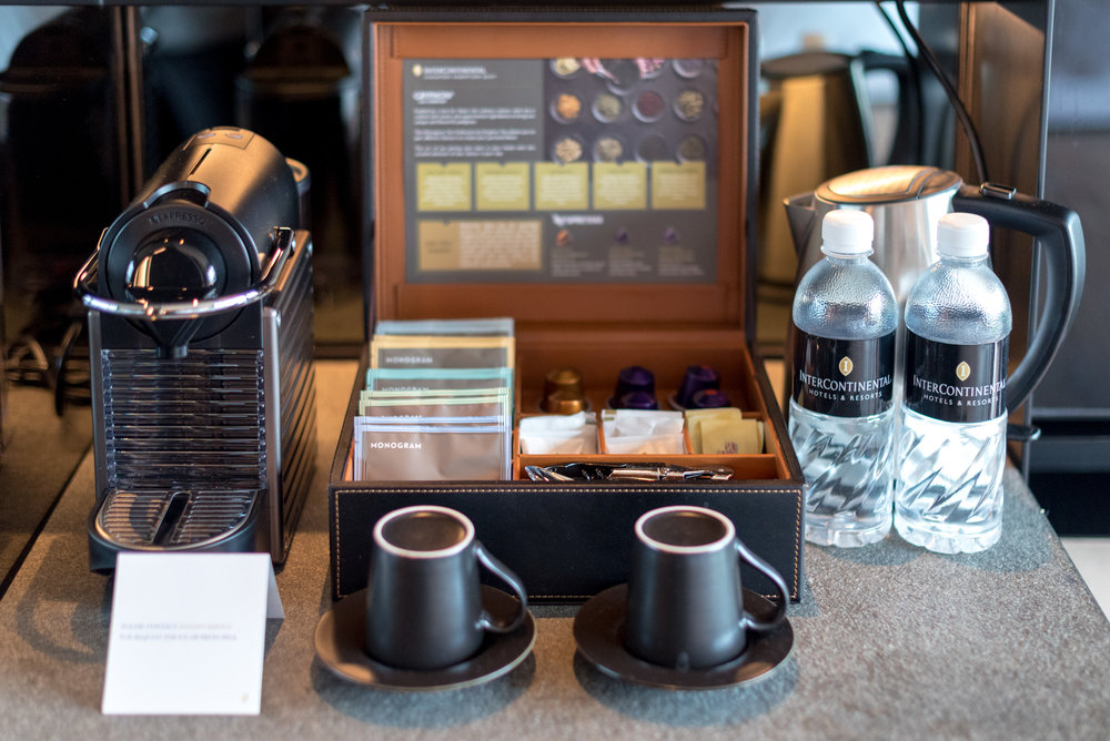 Nespresso Machine and Monogram Teabags   Club Riverview Studio King - InterContinental Singapore Robertson Quay