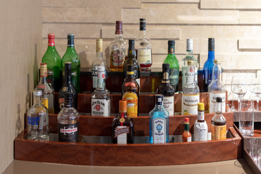 Wide Selection of Alcoholic Beverages  The Emirates Lounge - Singapore Changi Airport (SIN)