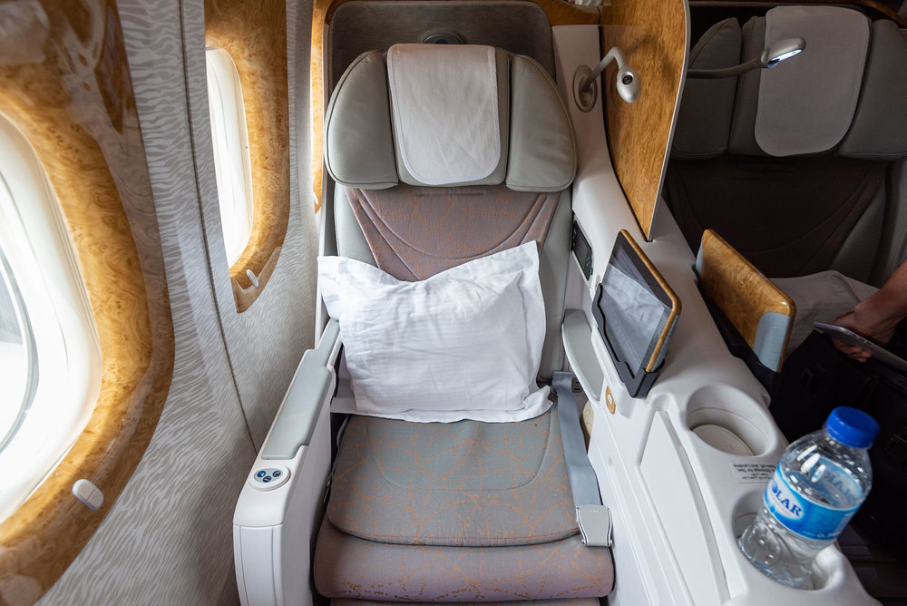 Seat 8K  Emirates Business Class - SIN to DXB