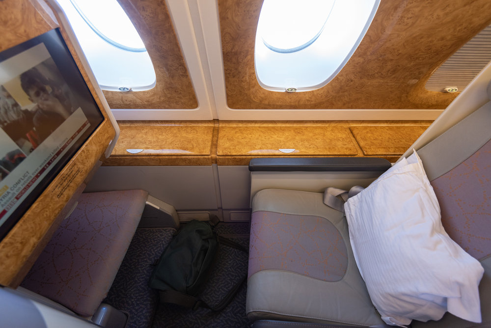 Seat 14K  Emirates Business Class EK203 A380-800 - DXB to JFK