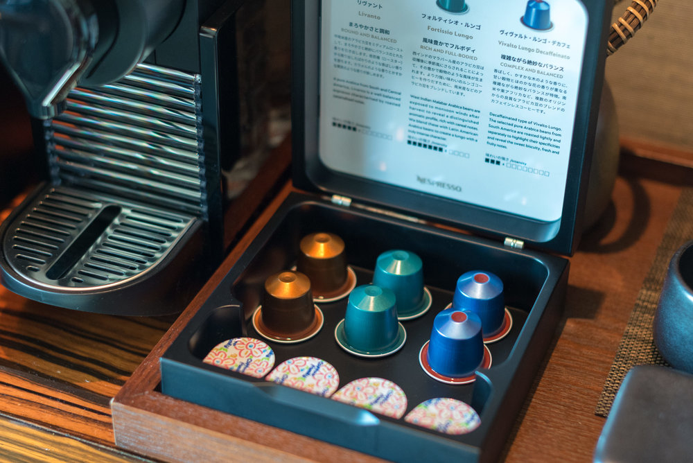 Complimentary Nespresso Coffee Capsules  King Executive Suite Bay View - Conrad Tokyo