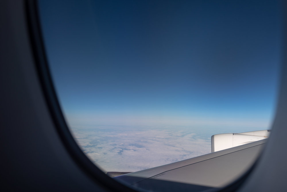 View from Seat 14K  Emirates Business Class EK203 A380-800 - DXB to JFK