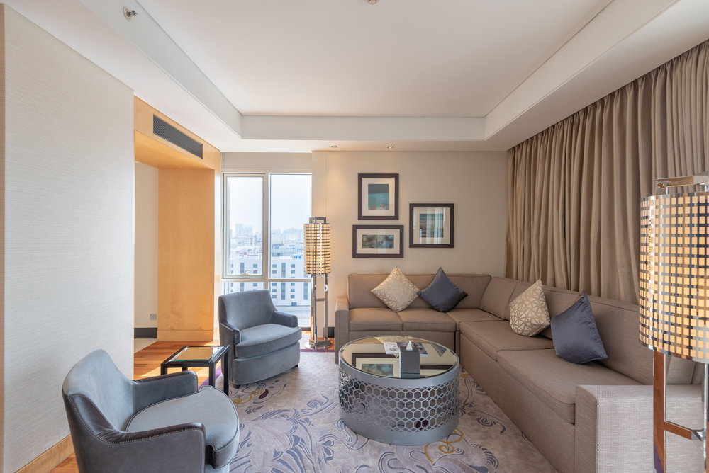 Living Room  Corner Suite - Kempinski Hotel Mall of the Emirates