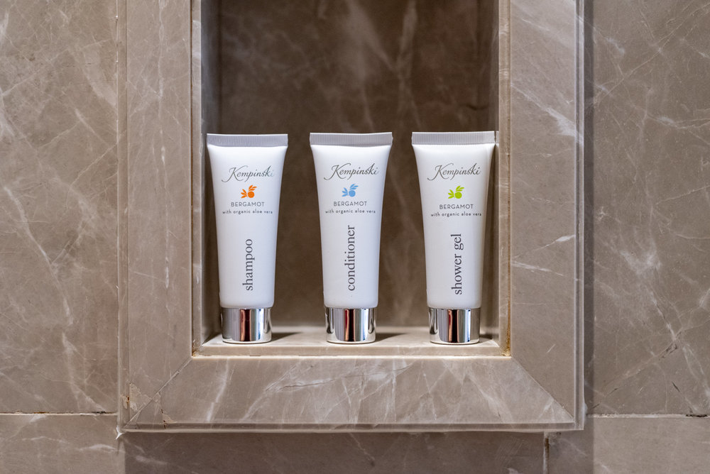 Bath Amenities  Corner Suite - Kempinski Hotel Mall of the Emirates
