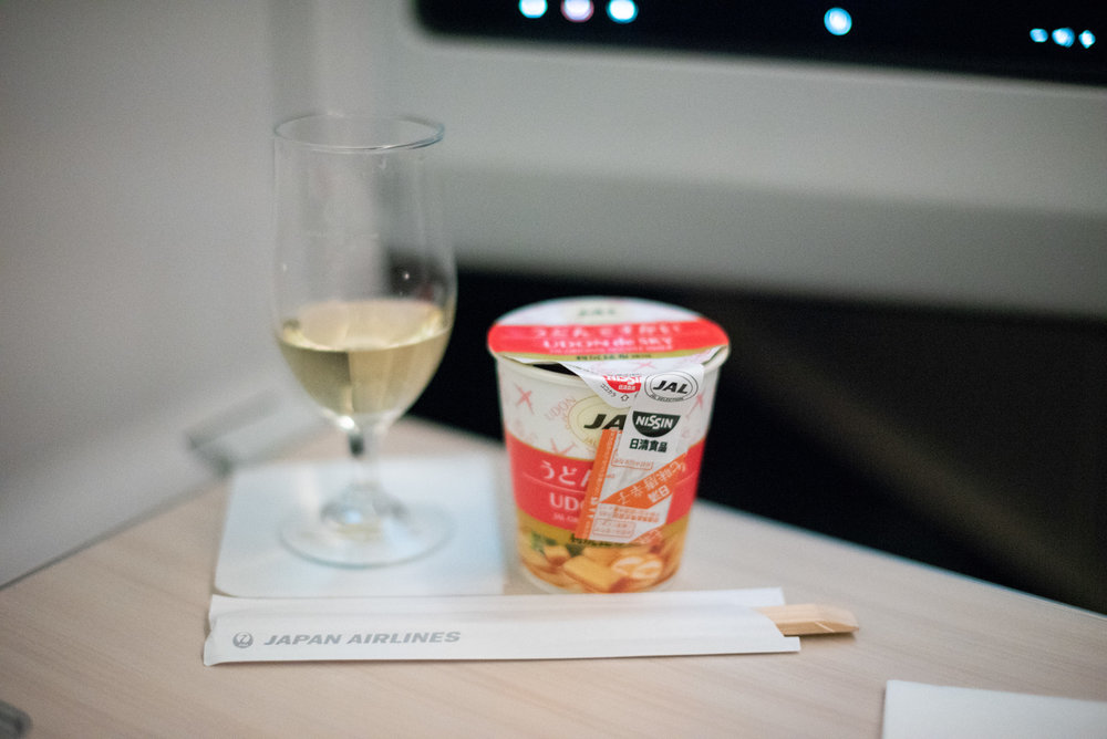 JAL Original Snack Noodle (UDON de SKY)  Japan Airlines Business Class JL724 - KUL to NRT