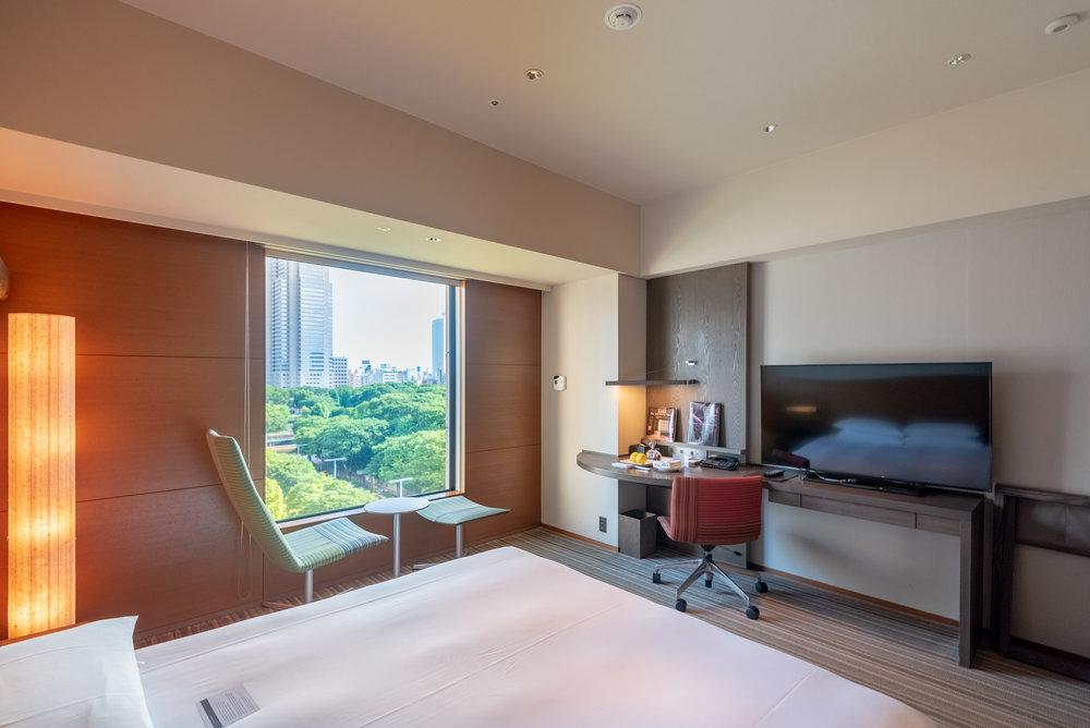 Work Desk with a View  Regency Club Room - Hyatt Regency Tokyo