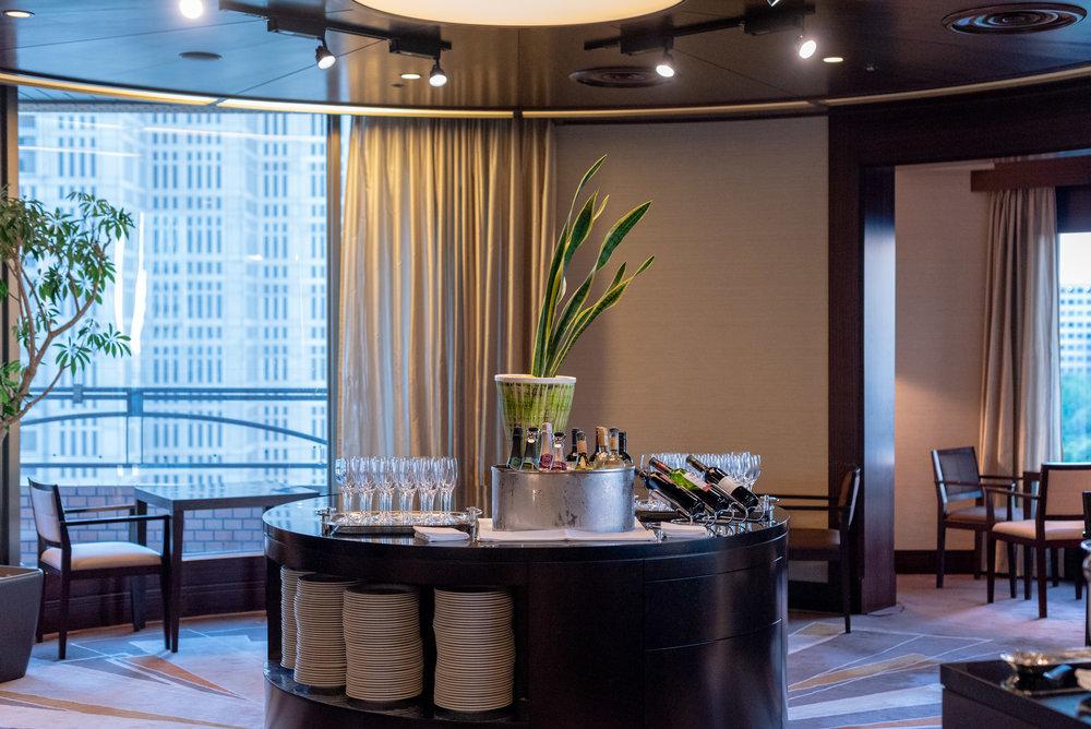 Wine Selection  Regency Club Lounge - Hyatt Regency Tokyo