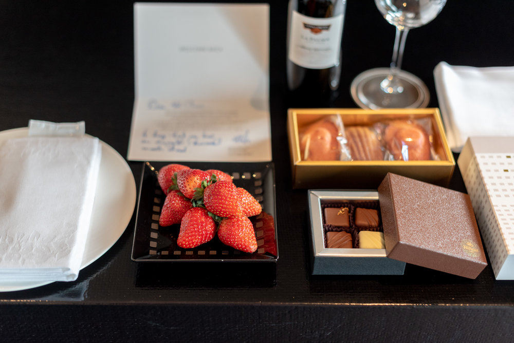 Welcome Amenities  King Tower Suite Executive - Hilton Tokyo