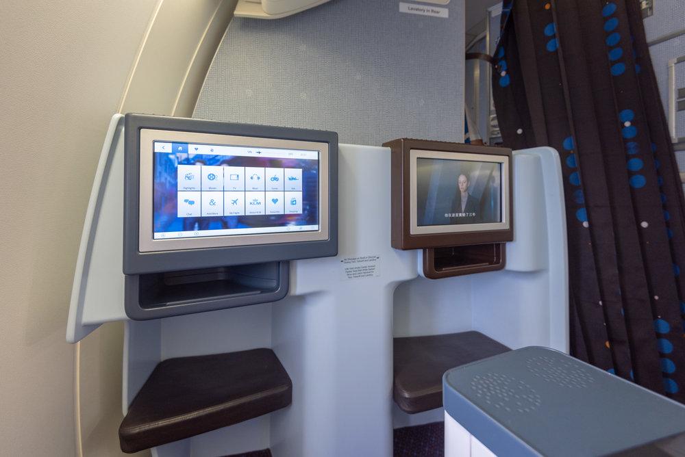 Business Class Footrest  KLM Business Class KL835 777-300ER - SIN to DPS