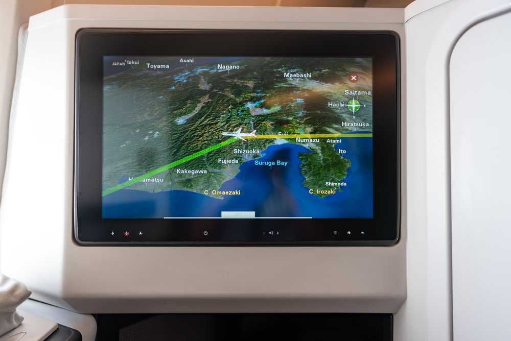 IFE System - Touchscreen  Japan Airlines Business Class JL37 - HND to SIN