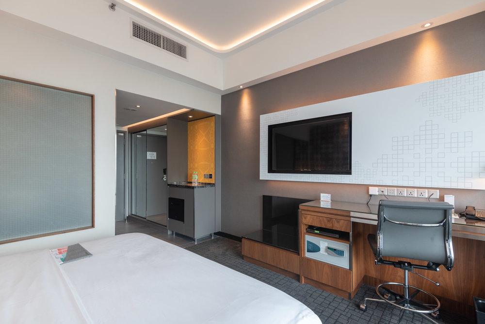 Work Desk and TV  Le Meridien Club Room - Le Meridien Kuala Lumpur