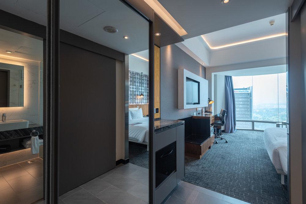 Entrance to Bedroom  Le Meridien Club Room - Le Meridien Kuala Lumpur