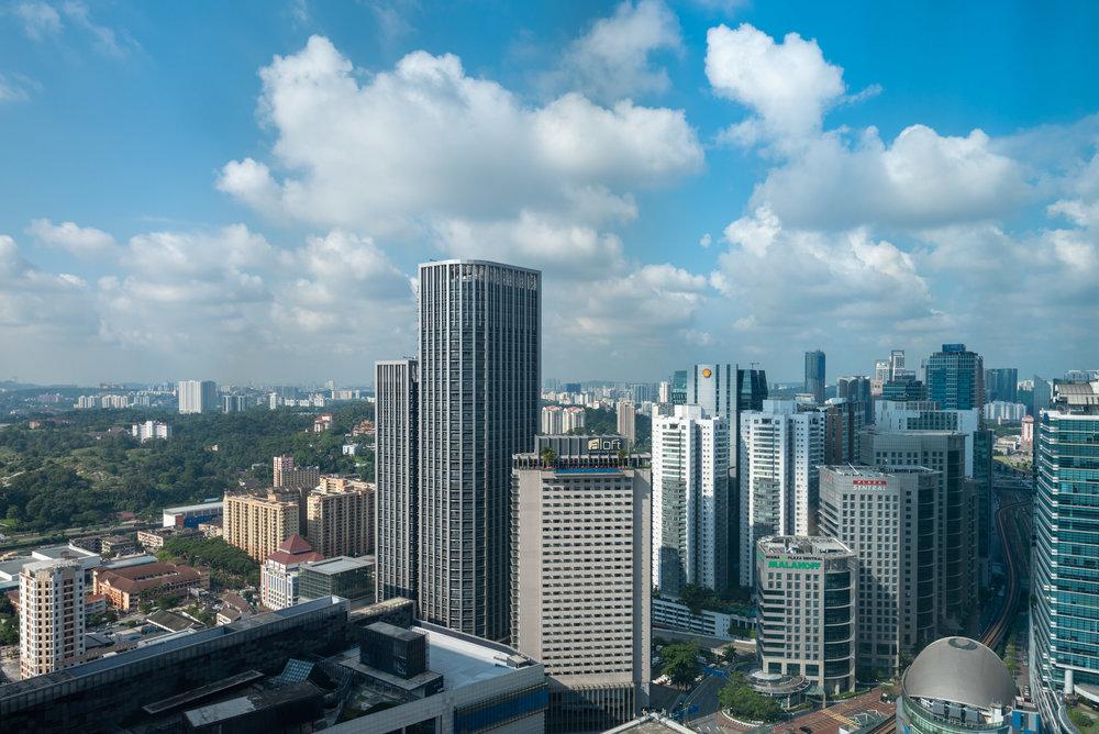 View from Bedroom  Le Meridien Club Room - Le Meridien Kuala Lumpur