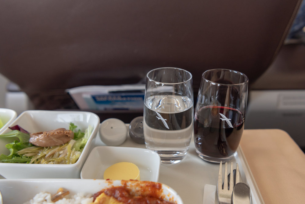 Selection of Wine  SilkAir Business Class MI615 737-800 - REP to SIN