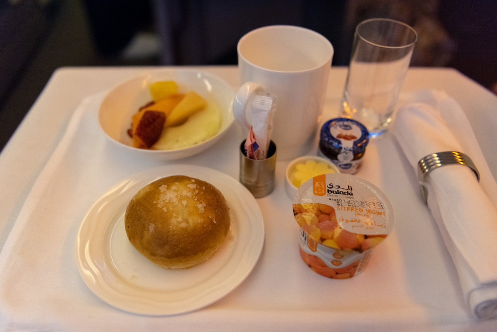 Continental Breakfast  Emirates EK352 Business Class 777-300ER - DXB to SIN