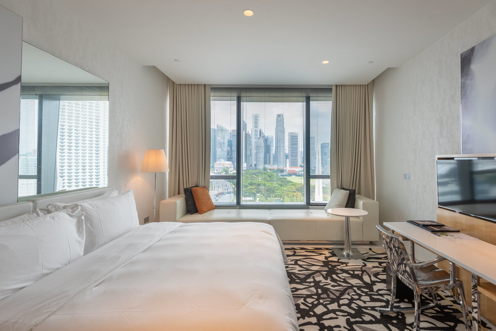 Room with a View  Premier Marina Bay View Room . JW Marriott Hotel Singapore South Beach
