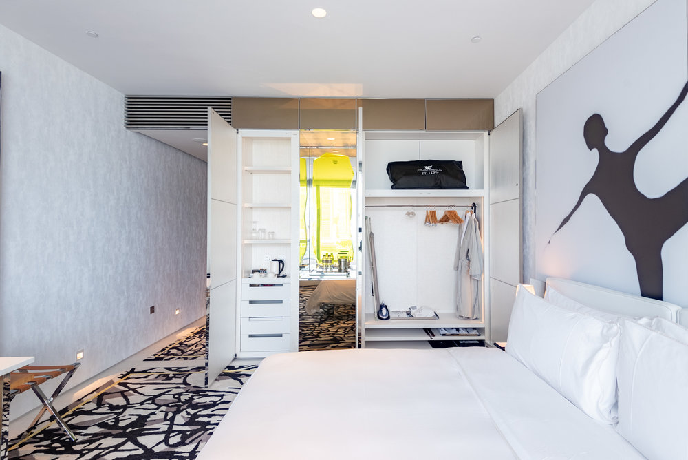 Wardrobe  Premier Marina Bay View Room . JW Marriott Hotel Singapore South Beach